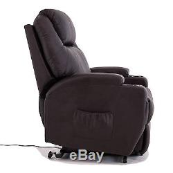 KUPPET Power Lift Chair Recliner Armchair Real Leather Wall Hugger Lounge Seat