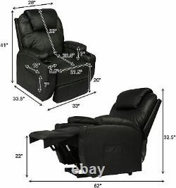 Koreyosh Power Lift Electric Recliner Chair with Heated Vibration Massage