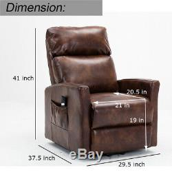 Leather Electric Power Lift Recliner Chair for Elderly Armchair Lounge Sofa