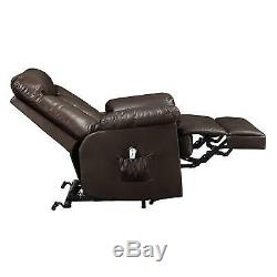 Leather Power Lift Recliner Chair for Living Room TV Sofa Lazy Wall Hugger Boy