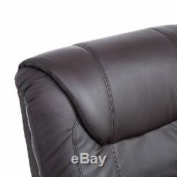 Lift Chair Electric Power Recliner Brown Leather Assist Remote Control