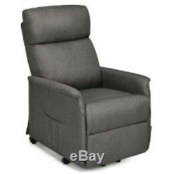 Lift Chair Electric Power Recliner Remote Control Reclining Lounge Sofa Gray New