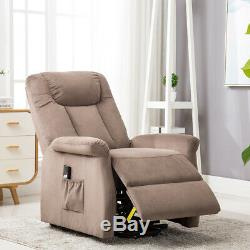 Lift Chair Electric Powered Recliner Sofa Armrest Soft Fabric Seat Living Room