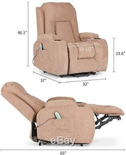 Lift Chair Recliners Power 160° Recline Sofa with Remote Control for Elderly NEW