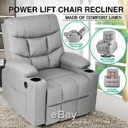 Lift Massage Heat Recliner Chair Full Auto Electric Power USB Vibration Control