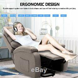 Living Room Chair Electric Power Lift Recliner Chair Motorized Single Sofa USB