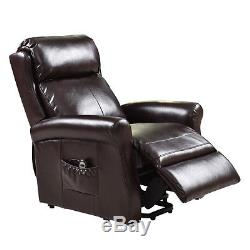 Luxury Electric Power Lift Recliner Chair Leather Lazy Affordable Living Room US