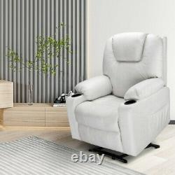 Luxury Leather Massage Sofa Power Lift Recliner Electric Chair with foot rest