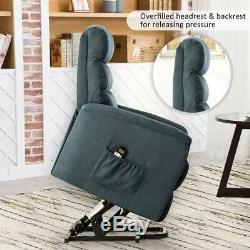 Massage Chair Power Lift Recliner Sofa Ergonomic Heat Vibration withRC for Elderly