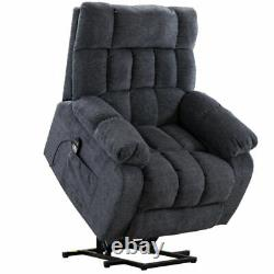 Massage Power Lift Recliner Chair Heat & Vibration Single Sofa Couch Lounge Seat