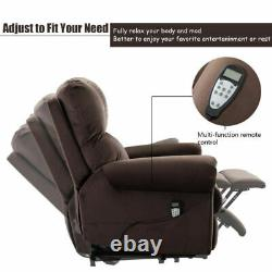 Massage Power Lift Recliner Chair Heat Vibration with Control For Elderly