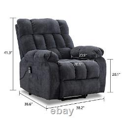 Massage Power Lift Recliner Chair Overstuffed Heat Vibration Sofa for Elderly