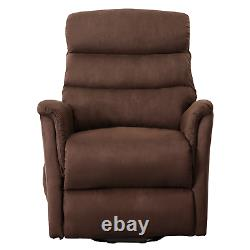 Massage Power Lift Recliner Chair Overstuffed Suede Sofa with RC for Elderly US