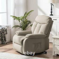 Massage Power Lift Recliner Chair Sofa with Vibration Elderly Overstuffed Sofa