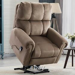 Massage Power Lift Recliner Chair With Heat & Vibration For Elderly Lounge Sofa