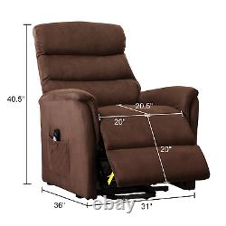 Massage Power Recliner Chair With Heating Vibration Lifting Electric Lounge Sofa