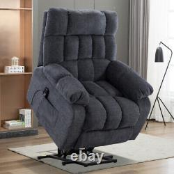 Massage Recliner Chair Single Sofa Power Lift Padded Seat Heat Vibration Control