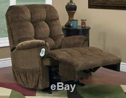 Med-Lift Reclining Sleeper Power Lift Chair with TV Position and Full Chaise P