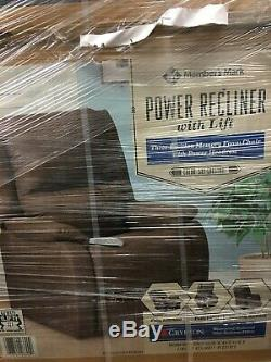 Members Mark Power Recliner with Lift 3 Position Memory Foam Chair with Headrest