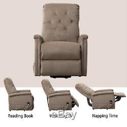 Microfiber Electric Power Lift Recliner Chair Elderly Armchair Lounge Seat Sofa