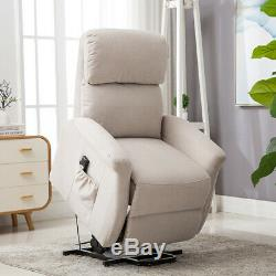 Modern Electric Power Lift Chair Sofa Recliner Living Room Large Padded Armchair