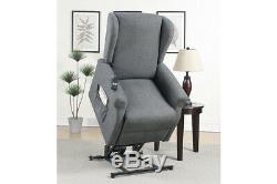 Modern Motion Charcoal Hygiene Fabric Functional Power Lift Chair