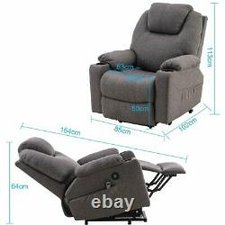 Multifunction Power Lift Chair 8 Point Massage Chair Zero Gravity Remote Recline