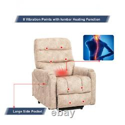 NEW Auto Electric Power Lift Massage Recliner Chair Heated with8 Vibration Control