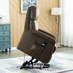 NEW Electric Power Lift Chair Recliner Leather Sofa Padded Large Seat LivingRoom