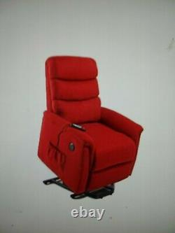 NEW LifeSmart 3-1 Power Lift Recliner Chair withHeat, Massage & 2 USB Ports Red