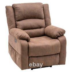 New Electric Power Lift Massage Chair Recliner Zero Gravity Lounge Light Brown