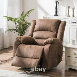 New Electric Power Lift Massage Recliner Chair Vibration Control Light Brown US