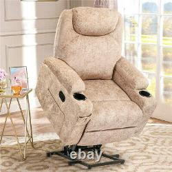 New Power Recliner Lift Chair Electric Heated Massage Vibration Lounge Sofa Seat