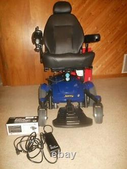 New Pride Jazzy Select 6 Power Chair Wheelchair with Power Lift Elevator Blue 2020