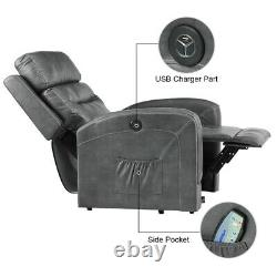 Oversize Auto Electric Power Lift Chair Recliner Sofa with Massage Heat Remote