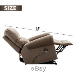 Oversize Auto Electric Power Lift Massage Recliner Chair Heat Vibration withRemote