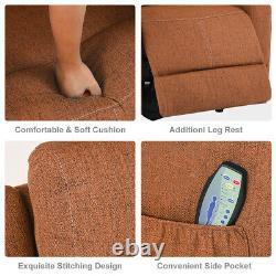 Oversize Electric Power Lift Chair Recliner Massage Heat Sofa Linen For Elderly