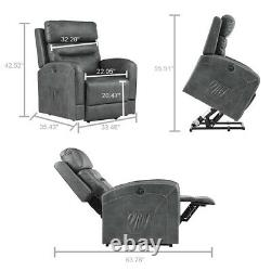 Oversize Leather Auto Electric Power Lift Sofa Massage Recliner Chair withRemote