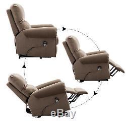 Oversize Power LIft Massage Chair Recliner with Heat 8-Point Vibration Elderly