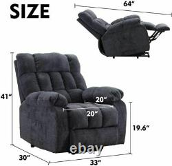 Oversize Power Lift Chair Recliners Infinite Position Lay Flat with Heat Massage