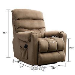 Overstuffed Power Lift Recliner Chair Heavy Duty Armchair Sofa for Elderly New