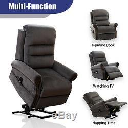 Power Electic Lift Recliner Chair Overstuffed Classic Design Sofa Living Room