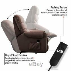 Power Electric Lift Recliner Chair for Elderly Chair Living room WithRCChocolate