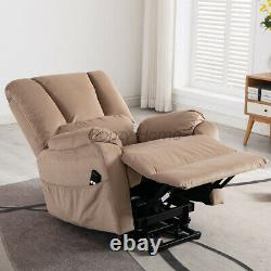 Power Lift Assist Chair Soft Recliner Living Room Sofa Lounge Armchair WithRemote