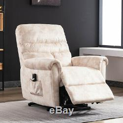Power Lift Assist Recliner Chair Electric Padded Suede Sofa With RC for Eldly