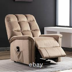 Power Lift Chair Electric Recliner for Elderly Fabric Motorized Sofa Living Room