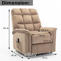 Power Lift Chair Electric Recliner for Elderly Living Room Suede Motorized Sofa