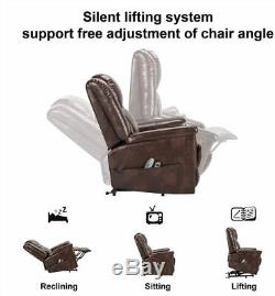 Power Lift Chair Electric Recliner for Elderly with Remote Control Brown