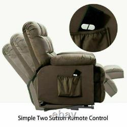 Power Lift Chair Fabric Recliner Sofa with Padded Seat Living Room for Elderly
