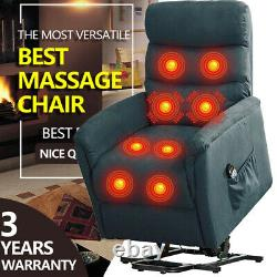 Power Lift Chair Massage Recliner Sofa with Heat Vibration Control Comfy Seat